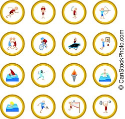 Summer sport cartoon icon circle