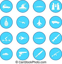 16 weapon icon blue - 16 weapon simple simple icon blue...