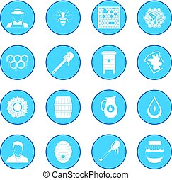 Apiary icon blue - Apiary simple icon blue isolated vector...