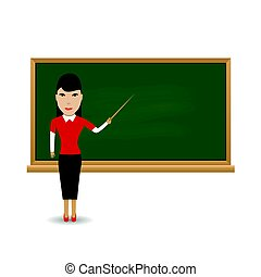 Young female teacher - Young female Japanese teacher...