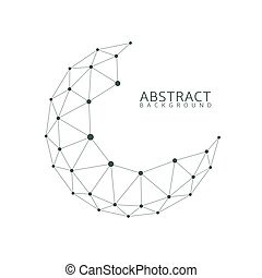 Abstract globe shape. Connection concept, abstract earth...
