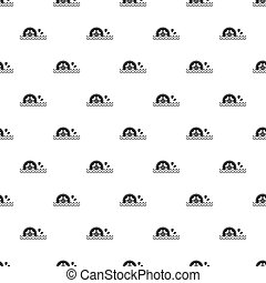 Waterwheel pattern seamless in simple style  illustration