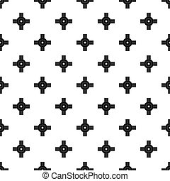 Big road junction pattern seamless in simple style...
