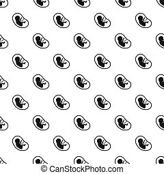 Fetus pattern seamless in simple style  illustration