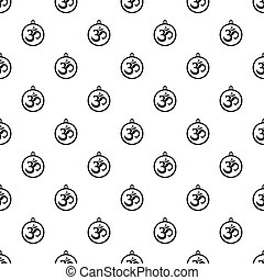 Indian coin pattern seamless in simple style  illustration