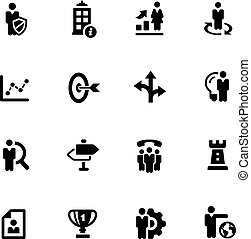 Company Strategy Icons -- Black Series - Vector icons for...