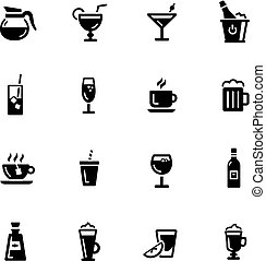 Drinks Icons -- Black Series - Vector icons for your digital...