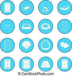 Stadium icon blue