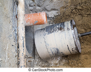 Core Hole Drilling - Look at a finished core hole hole with...