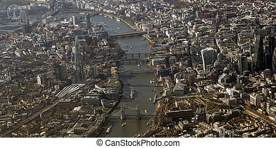 Birds Eye View, London - Birds Eye View of London from an...