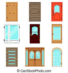 Front doors, collection of vIntage and modern doors to...