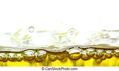 Water Oil Bubbles  Behind Glass Background