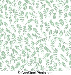 Wild leaves seamless, Floral endless pattern - Leaf endless...