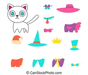 Set of clothes for a cat