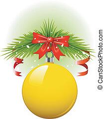 Yellow Christmas ball