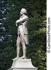 Sam Adams Statue in Boston