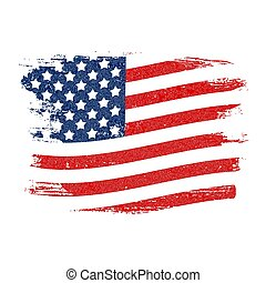 USA Flag Grunge Background. Can Be Used as Banner or Poster. Vector Illustration