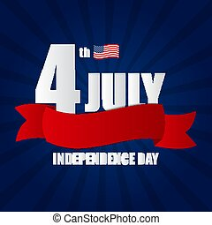 Independence Day in USA Background. Can Be Used as Banner or Poster. Vector Illustration