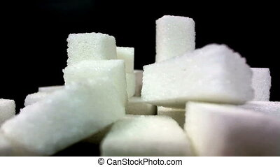 White Sugar Cane Cubes Glucose Sweetener Real-motion