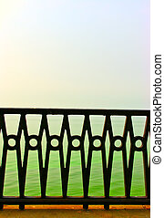 beautiful forged fence - the beautiful forged fence against...