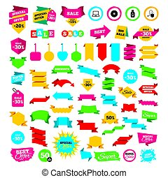 Notebook pc and Usb flash drive stick icons. - Web banners...