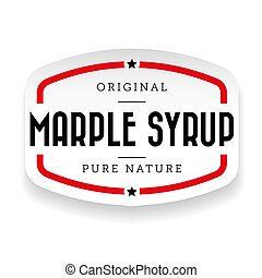 Marple Syrup vintage sign sticker