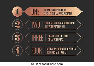 Set of infographic design, vintage arrows, banners, numbers...
