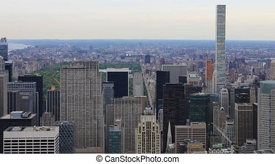 Timelapse aerial of midtown Manhattan