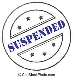 """Stamp """"Suspended"""" - Round blue/grey suspension stamp"""