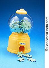 Puzzle Pieces in Bubblegum Machine