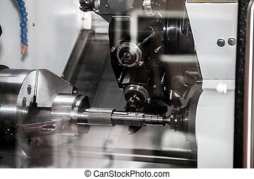 Horizontal CNC milling-turning center