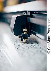 Print shop equipment. Close up