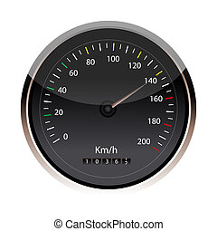 isolated speedometer - illustration of speedometer in an...