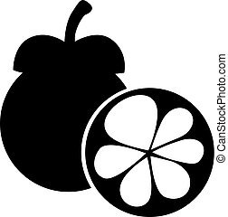 Mangosteen fruit image - Vector illustrations of mangosteen...