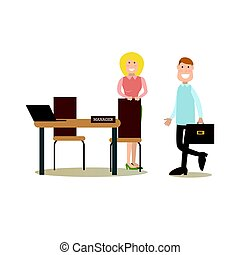 Bank people concept vector illustration in flat style -...