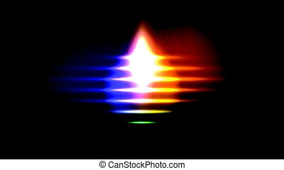 light sound wave - light and vivid colour sound wave vector...