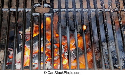 BBQ Grill and glowing coals. You can see more BBQ, grilled...