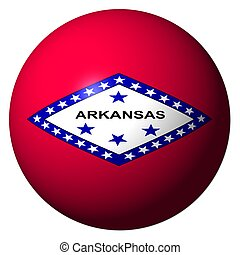 Arkansas flag sphere illustration - Arkansas flag sphere...