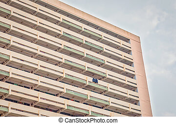 Abstract view of public housing in Hong Kong