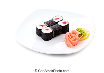 Tekka hosomaki - Image of tekka hosomaki sushi with pickled...