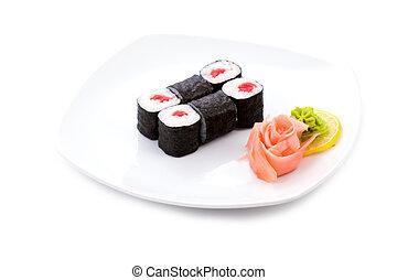 Tekka hosomaki - Image of tekka hosomaki sushi with pickled...