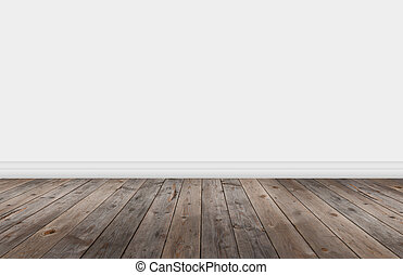 Wood flooring with wall
