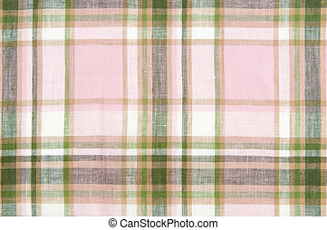 Close up checked fabric