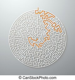Greek Maze Puzzle Challenge with Solution