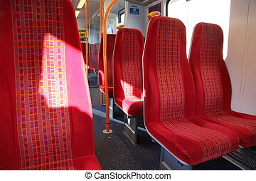 Vacant seats inside a train