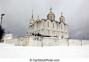 Dormition Cathedral in Vladimir, constructed between 1158 -...