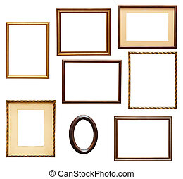 wooden frame grunge - collection of various wooden frames...