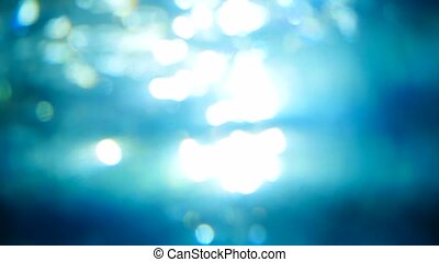 Beautiful underwater sea scene view with natural light rays,...