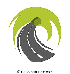 Abstract road turn
