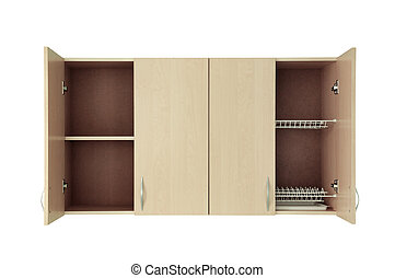 Cupboard isolated on white